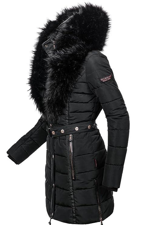 Marikoo Turnam – Abrigo acolchado para mujer, vegano, 3 colores, XS-XXL negro Small : Amazon.es: Ropa y accesorios