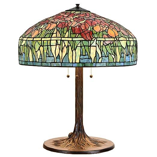 Amazon.com: Bieye L10663 Tulip Tiffany - Lámpara de mesa (30 ...