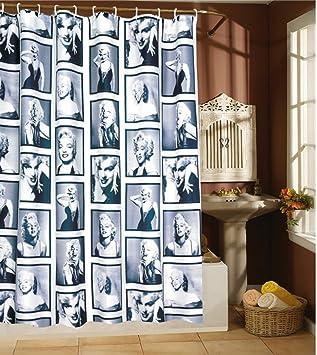 Attractive Amariver 72u0026quot;×72u0026quot; Mildew Resistant Marilyn Monroe Waterproof Fabric  Shower Curtain, Retro