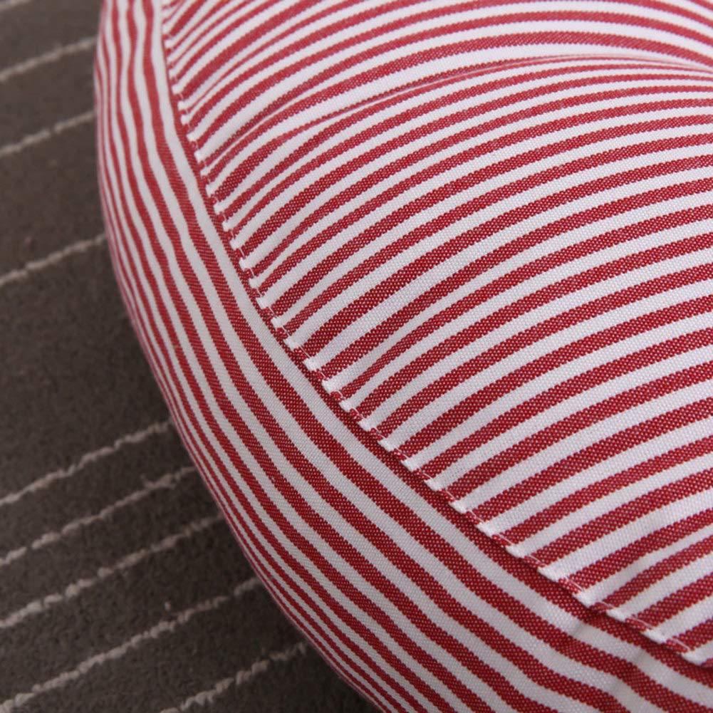 JiaQi Raya Espesar Raya JiaQi Acolchado del Asiento,Algodón y Lino Cojin para Silla,Tatami Simple Dolor de coxis Lumbalgia Hermosas Nalgas-C 52x52x10cm(20x20x4inch) 32fa05