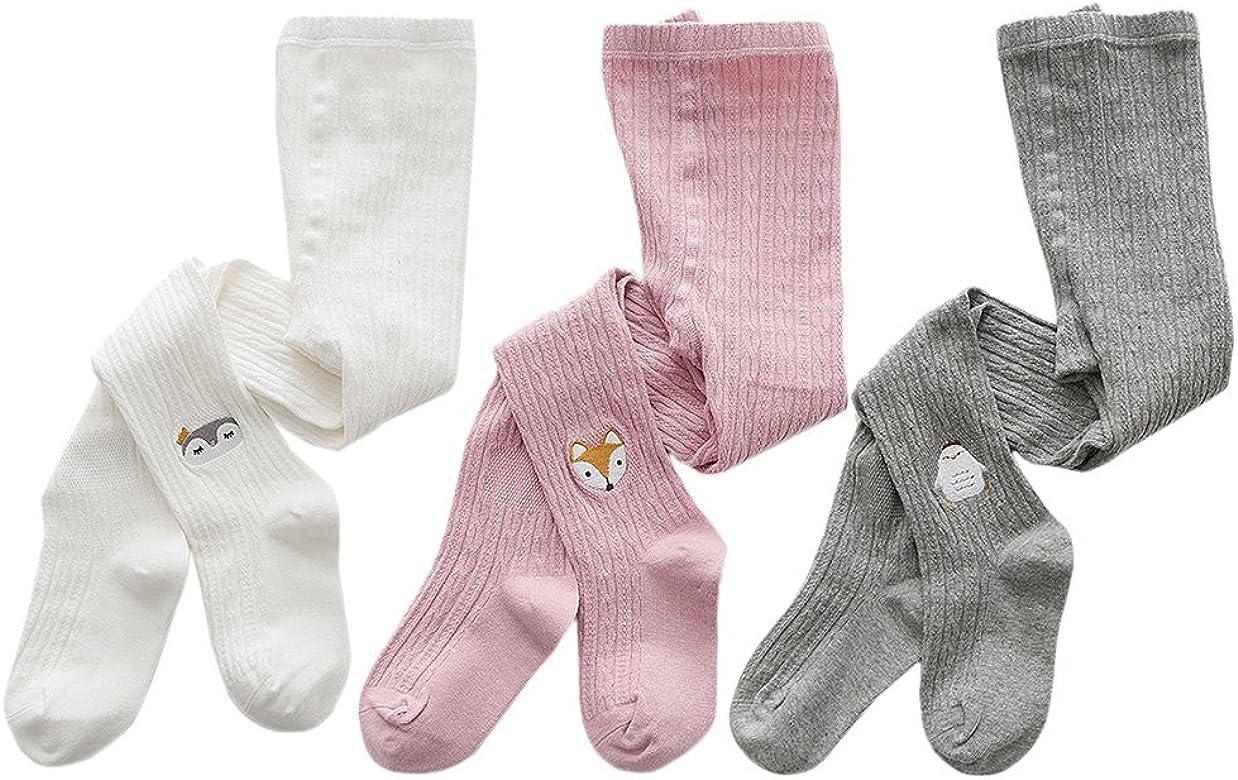 XPX Garment Collant Calzamaglie Bambina Cotone Leggings Calze Bimba 3 Paia