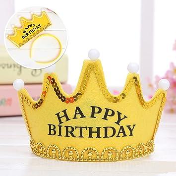 ab5a323f32e7c SOEKAVIA 子供用LED 王冠帽子 お誕生日 パーティー お祝い 演出飾り付け 目立つ光る ティアラ