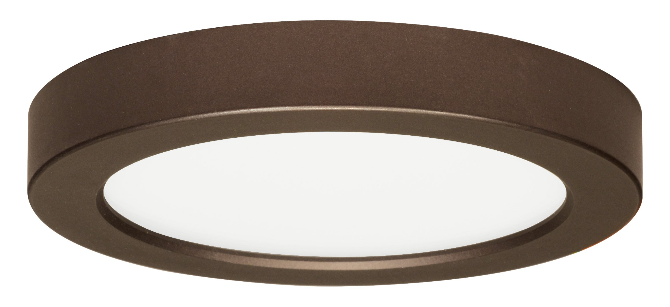 Satco Products S9330 120 volts Round Blink Flush Mount LED Fixture, 13.5W/7'', Bronze finish