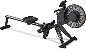 Rowing Machines for Home Use, Indoor Foldable Magnetic & Air Machine with 16-Level Tension Resistance Rower with LCD Monitor for Gym, Cardio & Strength Training