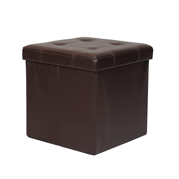 Top 8 Brown Leather Office Ottoman With Lid Footstool
