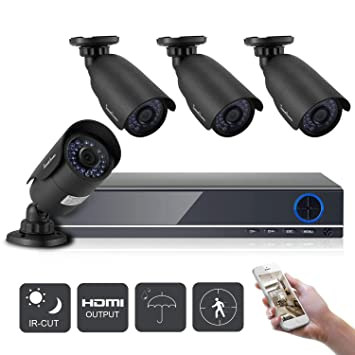 IHOMEGUARD 1080N Security Camera System with 4PCS HD 1920TVL 2 0MP Outdoor  CCTV Weatherproof Cameras with 4 Channel AHD DVR Video Surveillance Kit no