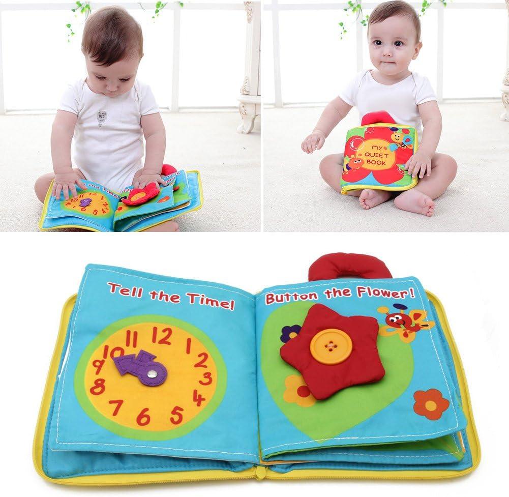 6 Stück Stoff Buch Baby Kind Intelligenz Entwicklung Spielzeug Entdeckungsbuch