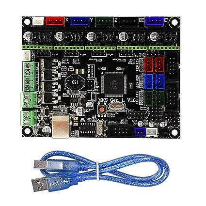 Fit MKSGENLV1.0 - Placa base para impresora 3D, accesorios para ...