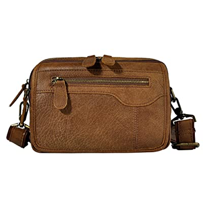 Genda 2Archer Classic Leather Waist Pack Sport Pouch Travel Hiking Bum Bag 85%OFF
