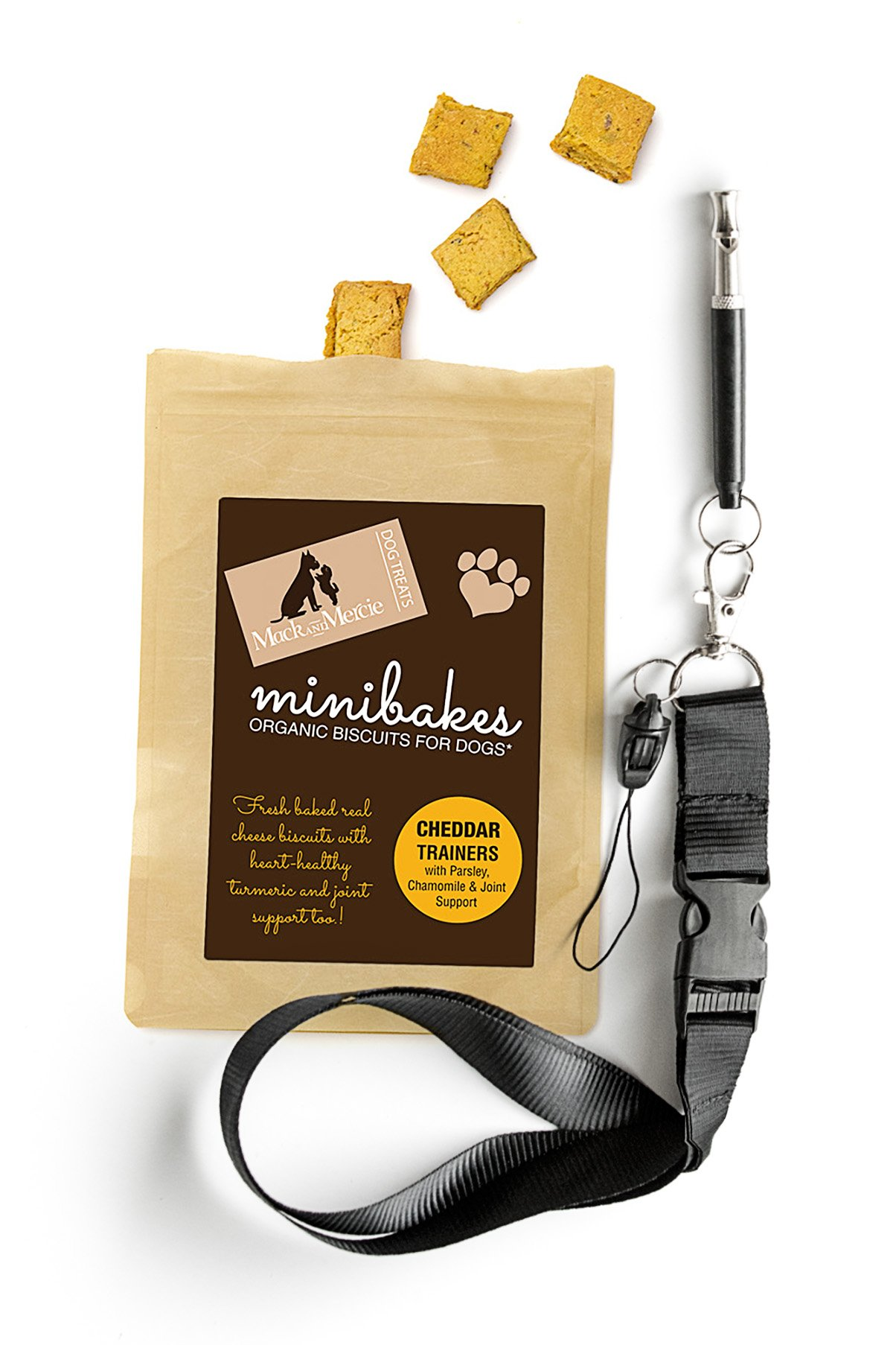 Mack and Mercie Dog Training Whistle Organic Dog Trainer Treats, Cheddar Easy to Teach
