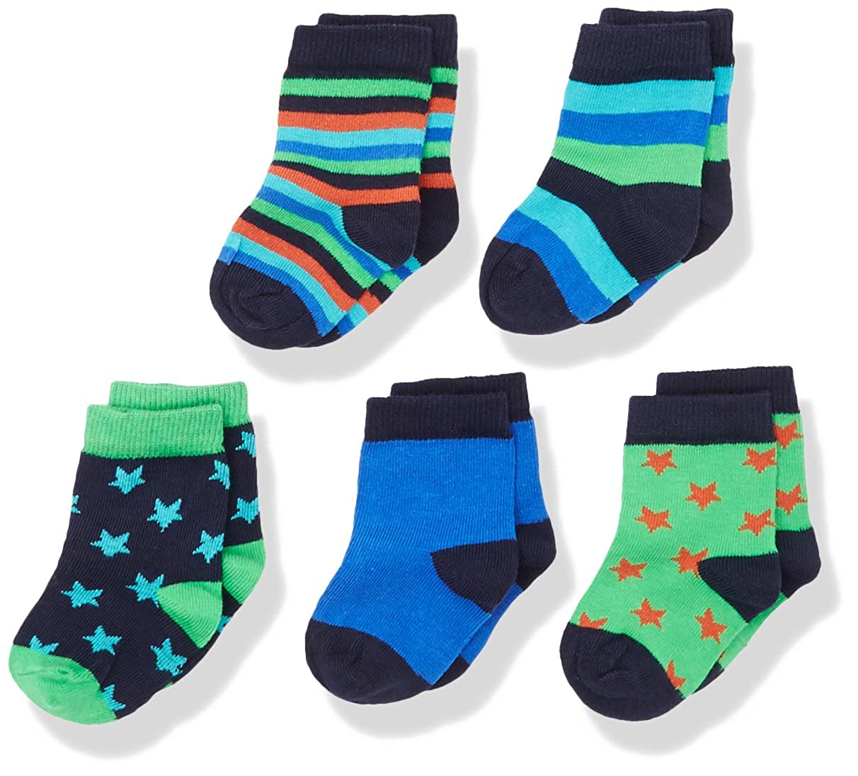 Magic Kids Happy, Calcetines para Niñas Pack de 5 Multicolor (Dark Navy) 15-18 Pack de 5 550056