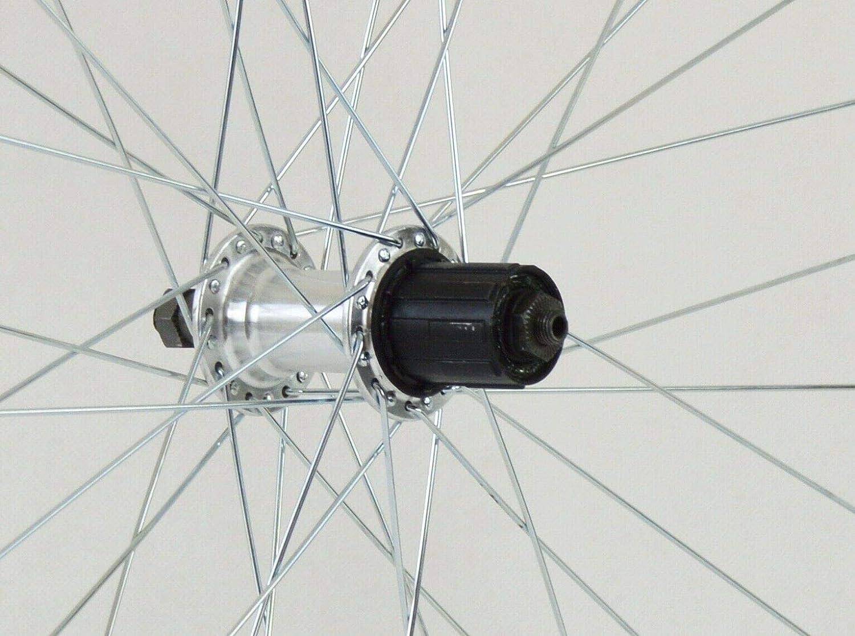 Redondo 26 Zoll Laufrad Set VR HR Felge Silber Shimano 8-Fach Kassette