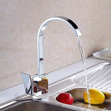 sdkky Wasserhahn, quadratisch flach Tube, Küchenarmatur, Gericht ...