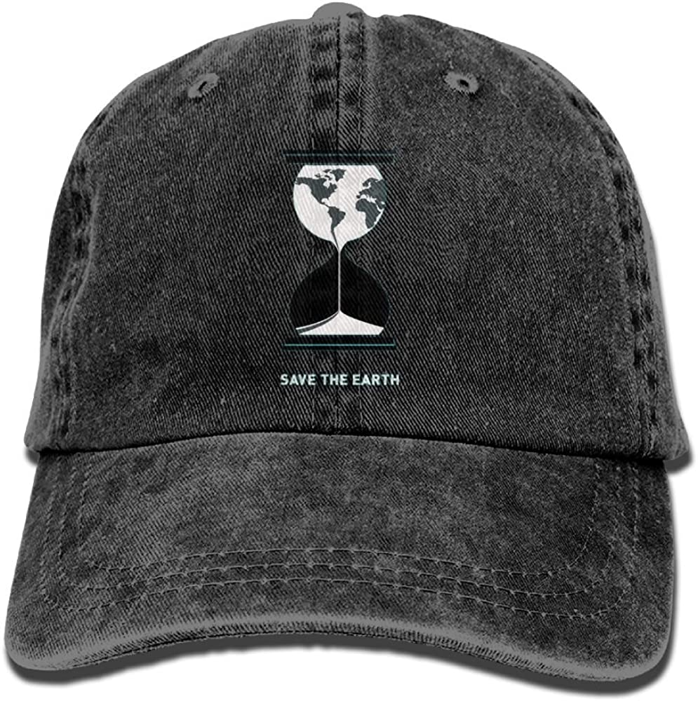Unique Adult Save The Earth Sports Adjustable Structured Baseball Cowboy Hat