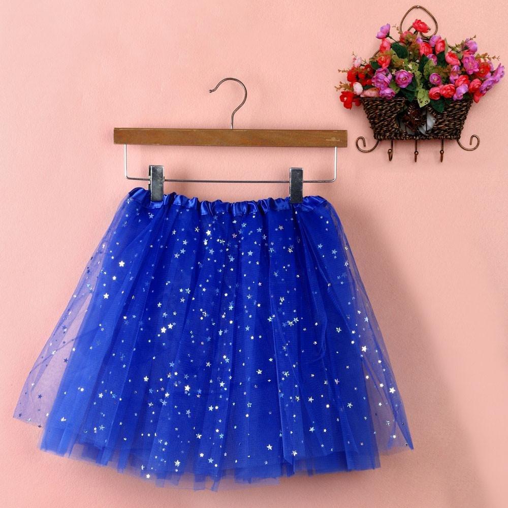 Sinwo Womens Girl Cute Pleated Gauze Short Skirt Adult Tutu Dancing Skirt Basic Skirt (Blue)