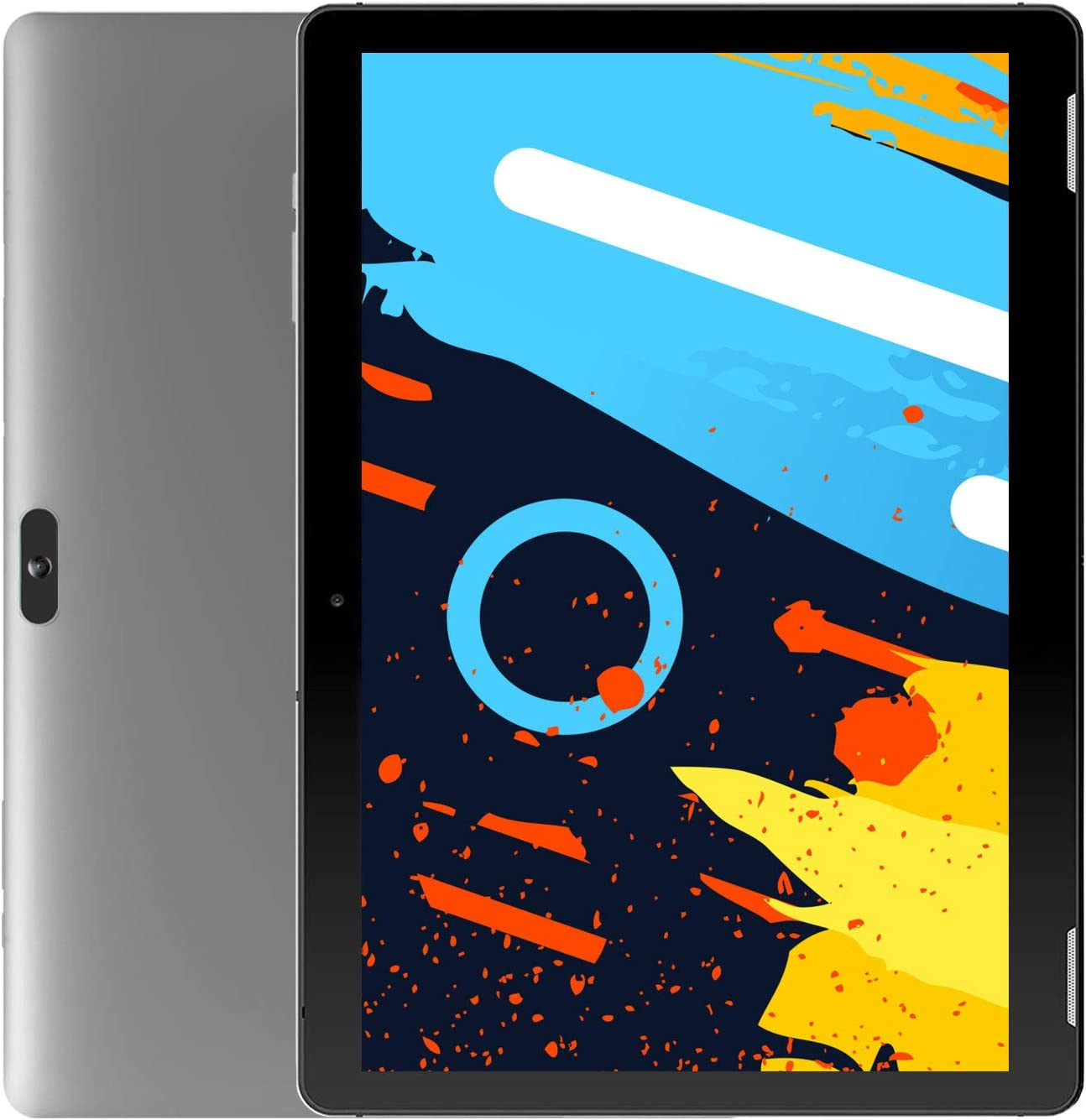 Android Tablet 10 Inch WiFi PC Tablets - Winnovo T10 MTK MT8163 3GB RAM 32GB Storage HD IPS 1280x800 2.0MP+5.0MP Camera Dual Band 5.0GHz Bluetooth HDMI GPS FM Android 9.0 Pie (Grey)