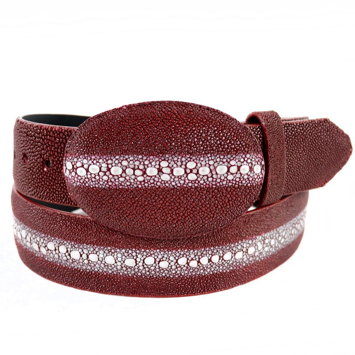 Original Burgundy Rowstone StingRay Skin Belt