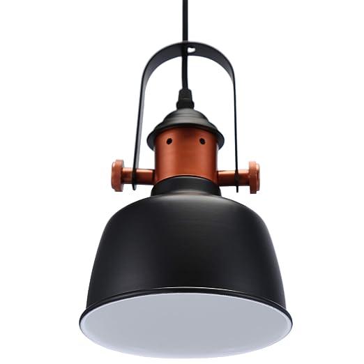 Glighone Pendelleuchte Hängelampe Industrial Retro Pendellampe  Esszimmerlampe Lampenschirm Deckenleuchte Hängend Vintage Lampe E27 für  Wohnzimmer ...