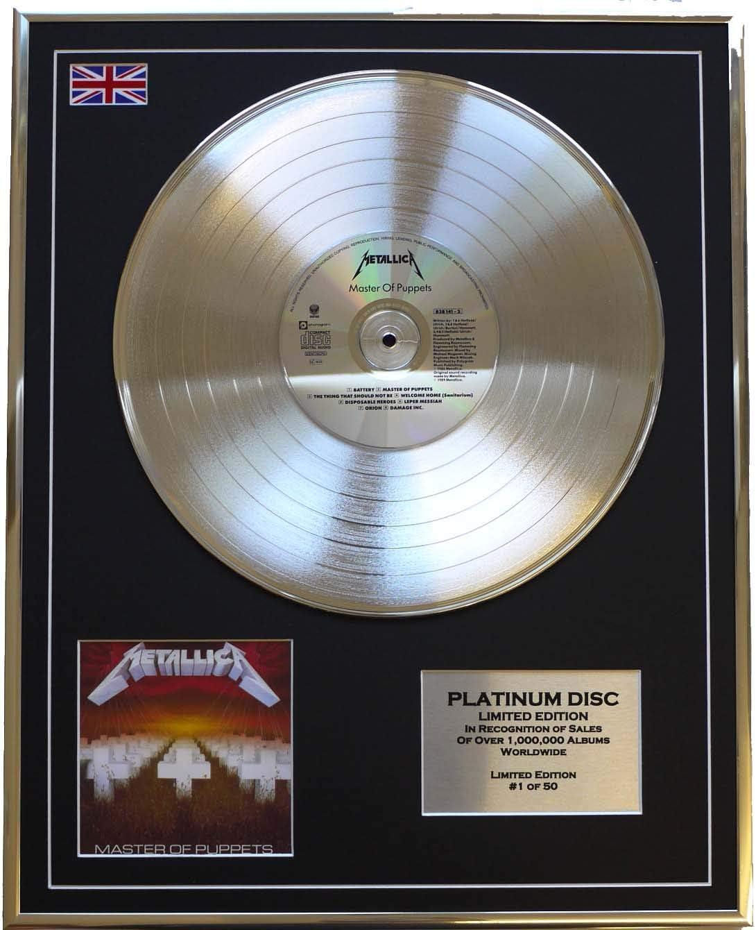METALLICA/LTD Edicion CD platinum disc/MASTER OF PUPPETS: Amazon.es: Hogar