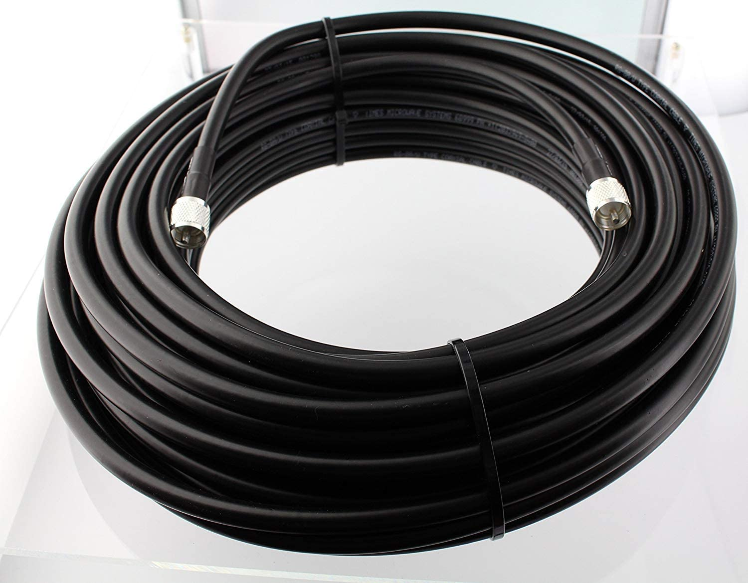 MPD Digital RG-213-PL-259-Jumper-3ft Patch Cable of RG-213//U Super Low-loss Double Shielded Coax Cable with PL-259 Connectors