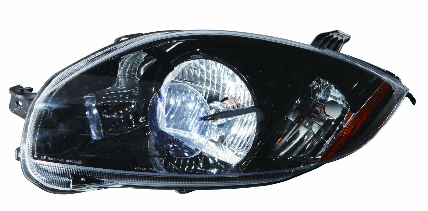 Depo 314-1136P-US2 Mitsubishi Eclipse Coupe Headlight Unit with Black Bezel