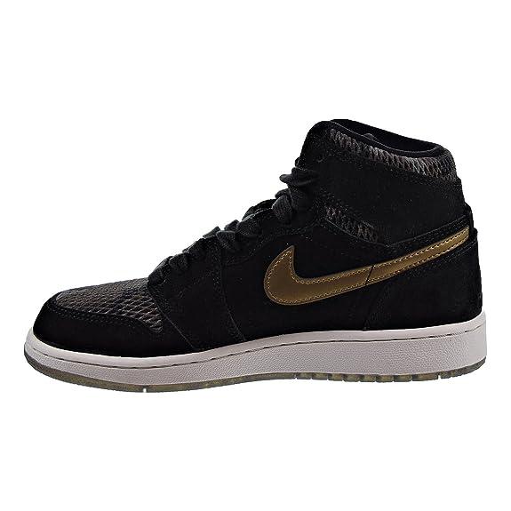 competitive price 62694 750de Jordan Schuhe – Air 1 Ret Hi Prem HC (GS) schwarz golden weißlicher Größe   36  Amazon.de  Schuhe   Handtaschen