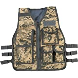 Duevin Children Tactical Vest, Body Armor Camouflage Combat Training Protective for CS Field Game Molle Outdoor Sports (8-14 Age Kids)