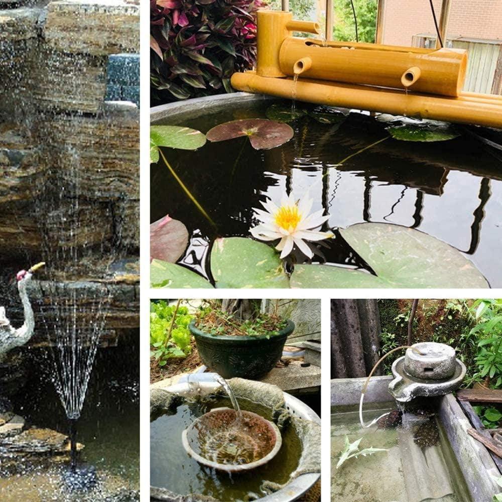 for Bird Bath Deinaty Solar Water Pump 8V 2W Garden Fountain Solar Pond Pumps Pond Or Garden Decoration Fish Tank 300L//H Solar Powered Water Pond Pump