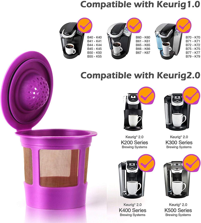 Amazon.com: GoodCups - 4 tazas K reutilizables para Keurig K ...