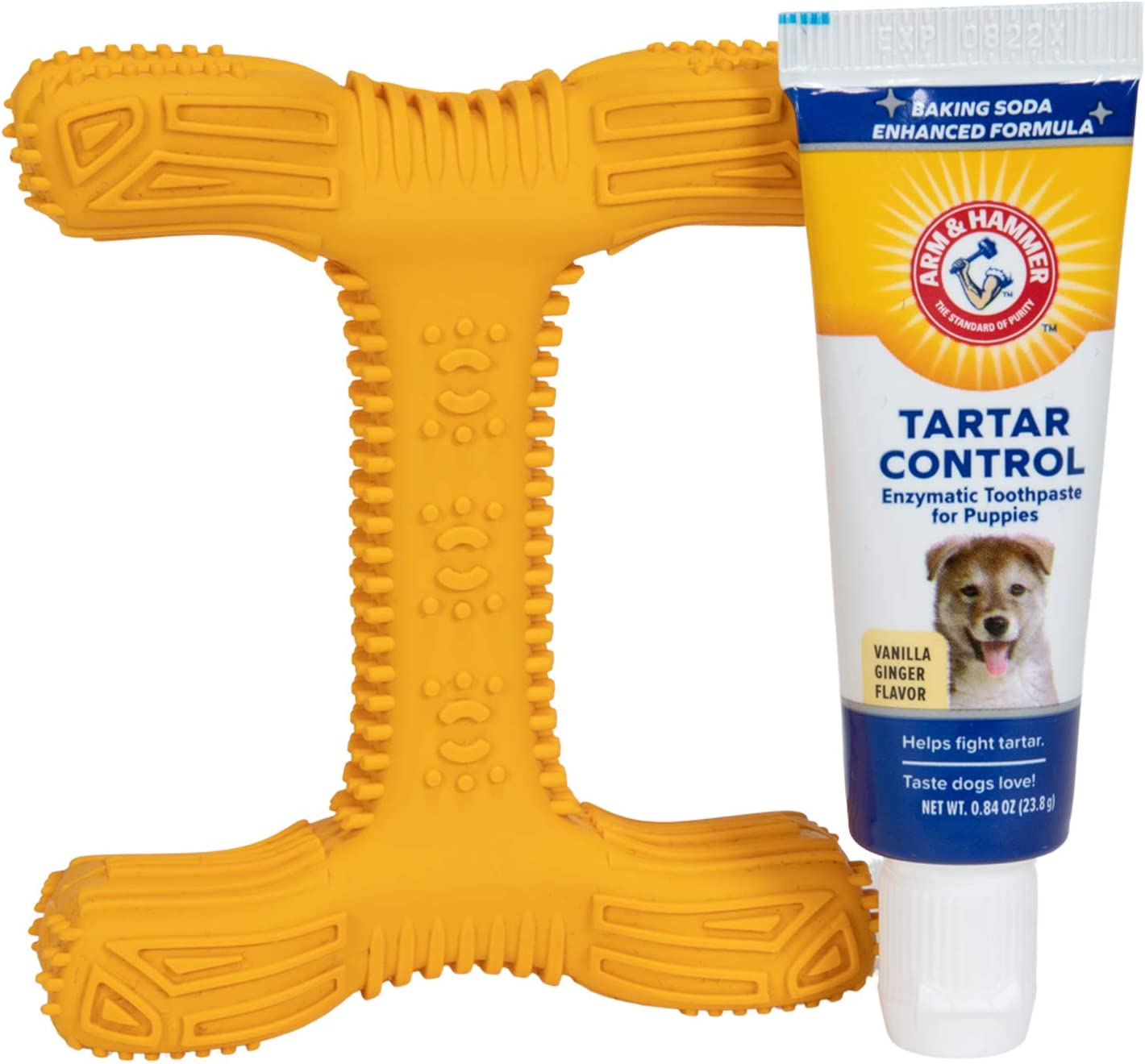 Arm & Hammer Dog Dental Care Tartar Control Kit for Dogs   Dog Dental Care Kit With Dog Toothbrush, Dog Fingerbrush, & Dog Toothpaste in Beef Flavor   With Enzymatic Dog Toothpaste to Fight Tartar