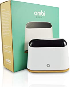 Ambi Climate 2 Smart Air Conditioner Controller - AI Powered, WiFi Enabled | Works with Alexa, Siri, Google Home, IFTTT, iOS, Android | Auto Temp Control for Window Units, Mini Split & Portable Units