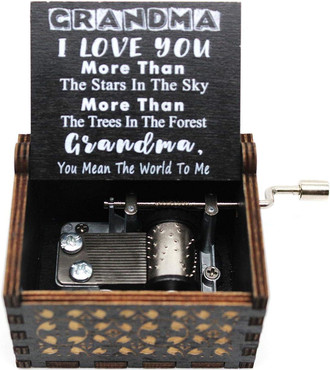 1 Set(Black) Gift for Grandma Lastsummer You are My Sunshine Music Box
