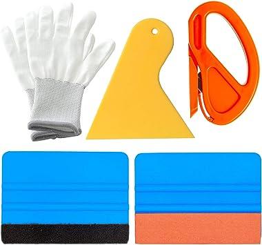Vinyl Car Wrap Applicator  Edge Felt Micro Squeegee Glove Window Tint Tools US