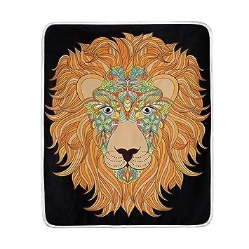 Amazon.com: Chen Miranda - Manta de cabeza de león, muy ...