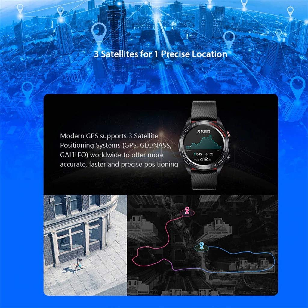 certainPL Huawei Honor Watch Magic Smart Watch, Multiple Sports Modes, Heart Rate AI Monitor, All-Day Pressure Manager, GPS, Alipay/NFC Bus Card Payment, 1.2'' AMOLED Colorful Touch Screen (Black) by certainPL (Image #7)