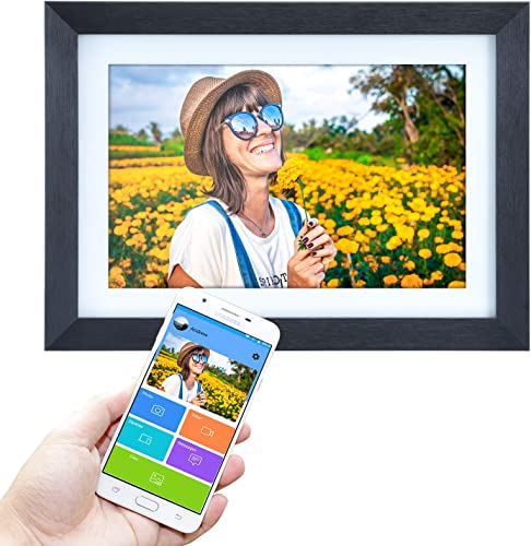 10.1 inch Digital Picture Frame WiFi with APP Cloud Digital Photo Frame 1280×800 HD IPS Touch Screen,Email Pictures,Support Share Photos Instantly via iOS and Android App,16GB Storage