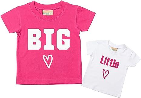 60 segundos Makeover Limited Big Sister Little Sister Heart Tshirt Set de camiseta para bebé niño pequeño disponible en tamaños de 0 a 6 meses a 14 a 15 años nueva hermana bebé: Amazon.es: Bebé
