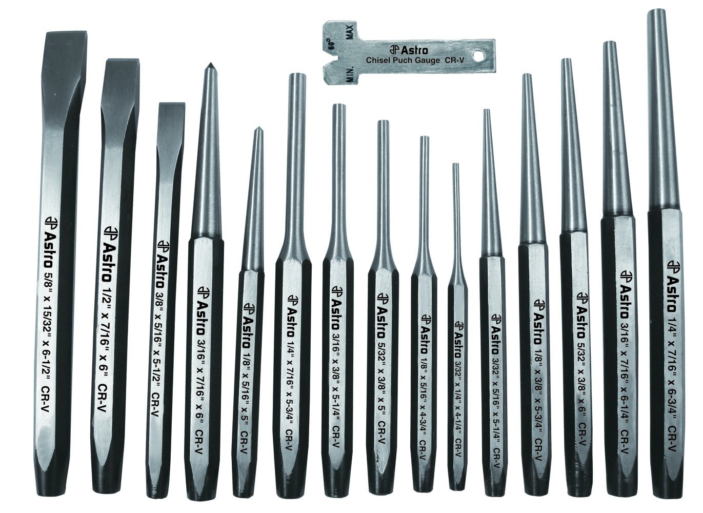 Astro 1600 16-Piece Punch and Chisel Set by Astro Pneumatic Tool