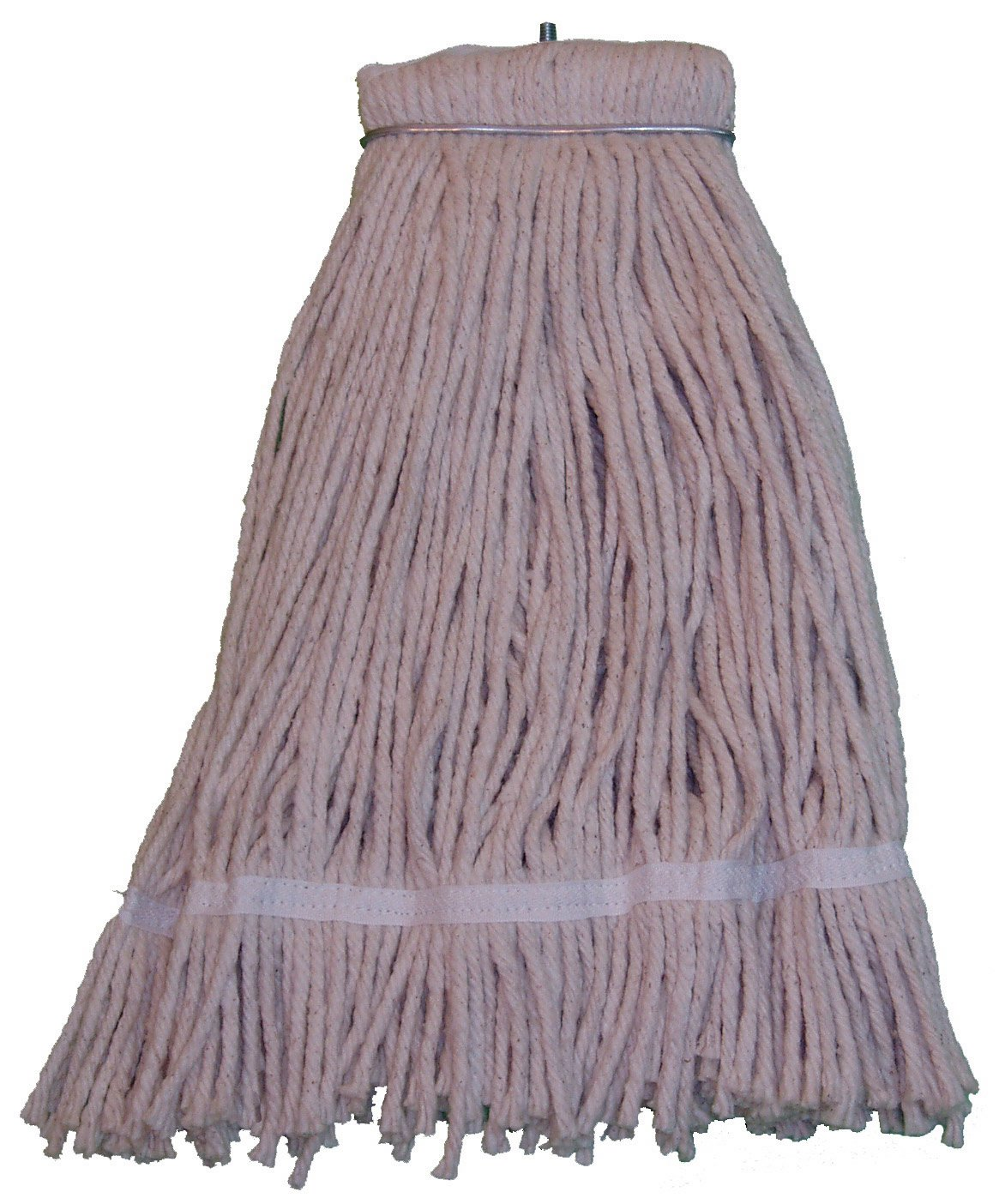 Pack of 12 Zephyr 20025 Shineup 4-Ply Cotton 24oz Screwflat Cut End Mop Head with Fantail