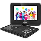 ieGeek 9.5'' Portable DVD Player with 5 Hour Rechargeable Battery, Supports SD Card and USB, with 75'' Car Charger and Game Joystick, Perfect for Kid and Road Trip ( Black)