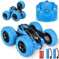 KKONES Remote Control car,2.4GHz Electric Race Stunt Car,Double Sided 360° Rolling...