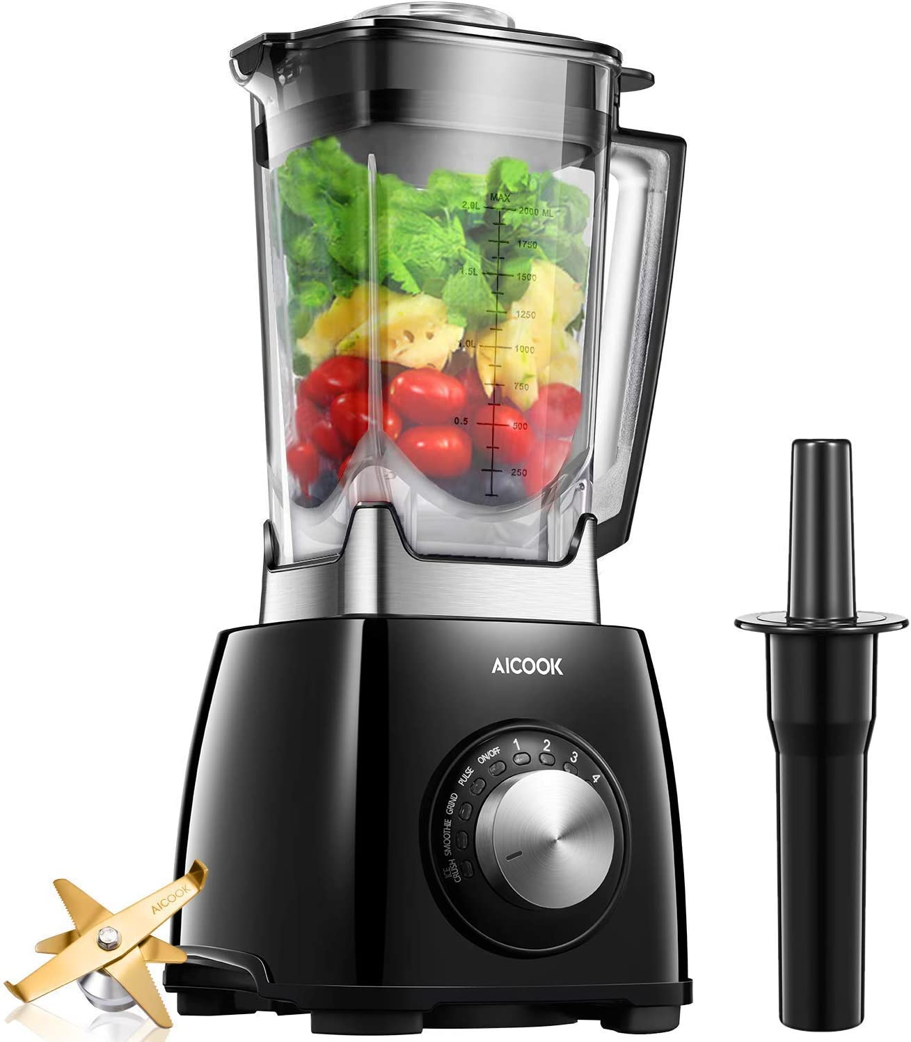 7. Smoothie Blender Aicook 1450W Professional Blender