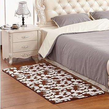 Unbekannt Rechteckiges Schlafzimmer Couchtisch Voller Boden Bett Teppich ( Farbe : Braun)