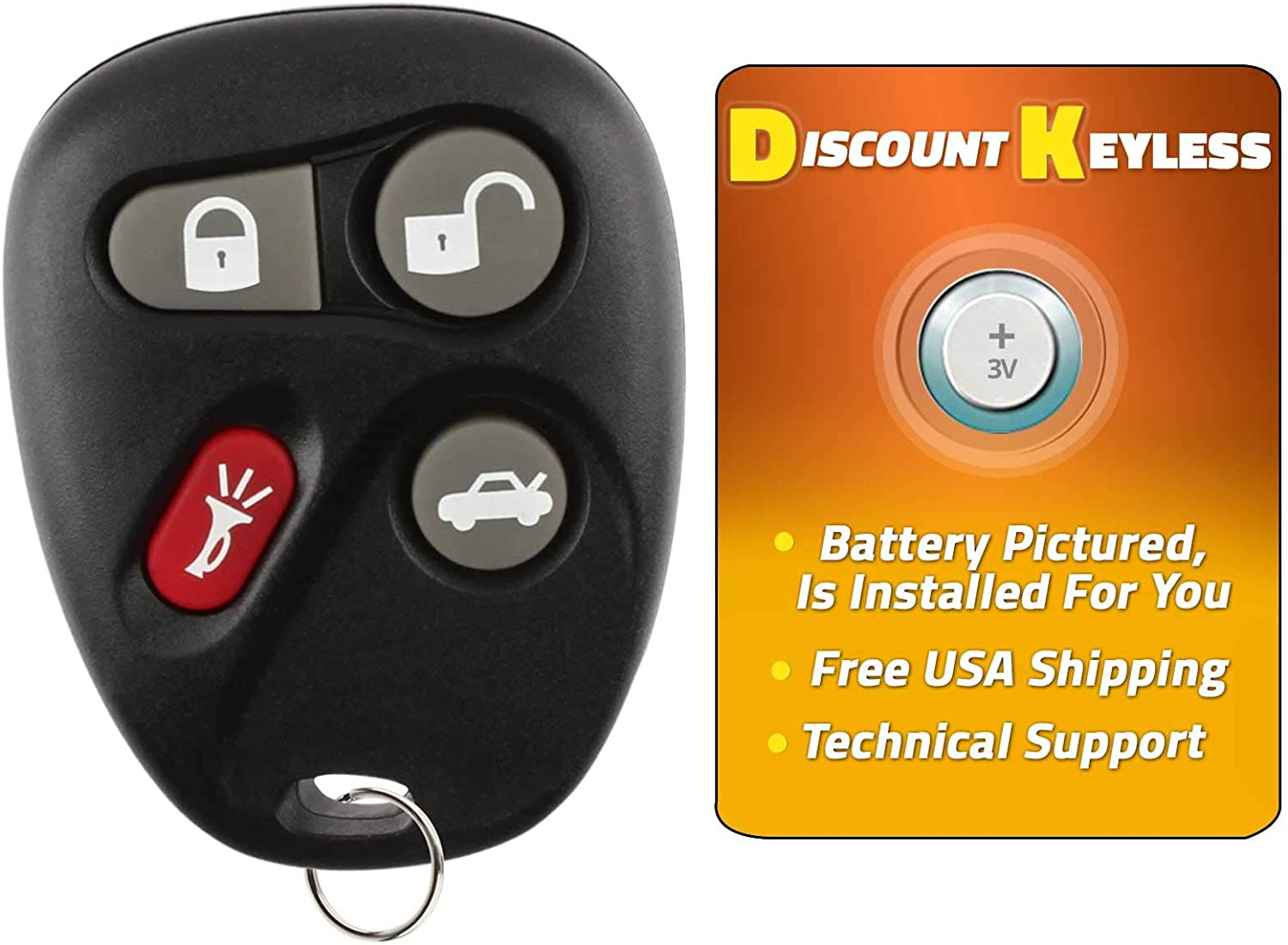 Discount Keyless Replacement Key Fob Car Remote Compatible with KOBUT1BT 2 Pack 25665574 25665575