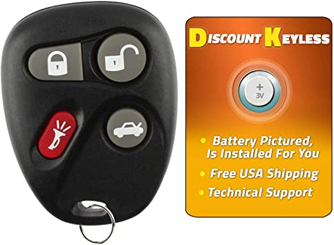 Discount Keyless Pair of Replacement 4 Button Automotive Keyless Entry Remote Control Transmitters KOBUT1BT