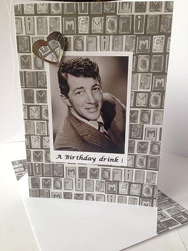 Amazon Dean Martin Handmade Birthday Card Famous American