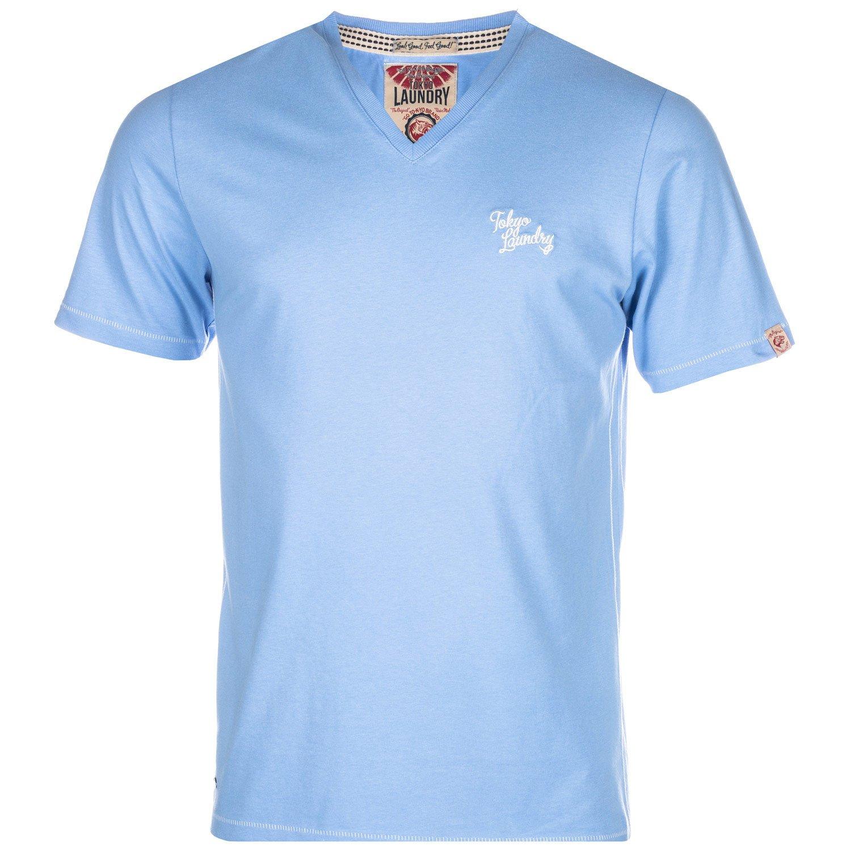 Blue Tokyo Laundry Mens Essential V Neck T-Shirt