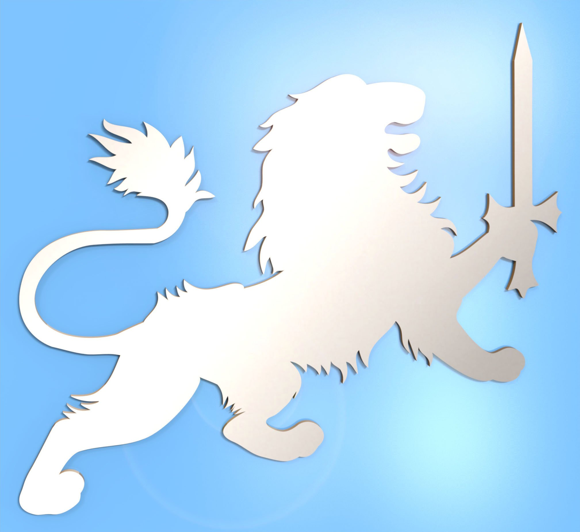 Lionheart Mirror - Available in various sizes, including sets for crafting kits - 50cm x 41.5cm