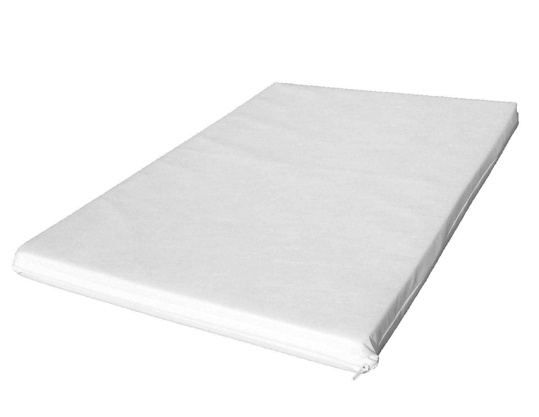 BABY best BUYS / KATIES PLAYPEN® - LAURA-95-5 - Colchón para cuna de viaje con espuma ignífuga con funda extraíble, lavable y transpirable (95 x 65 x 5 cm): ...