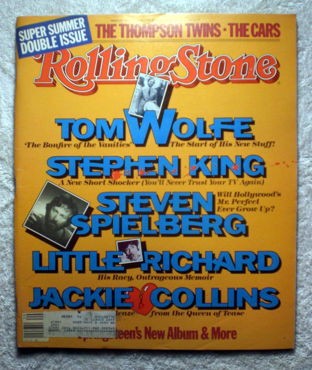 Super Summer Double Issue - Rolling Stone Magazine - #426-427 - July 19, 1984 - Stephen King, Steven Spielberg, Little Richard, Jackie Collins, The Thompson Twins